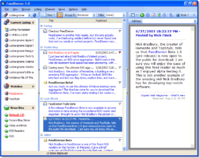 Screenshot of FeedDemon, a popular aggregator